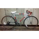 White and red racing bicycle