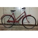 Burgandy ladies bicycle
