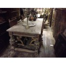 8 Foot Carved Leg Period Banquet Table