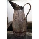 Large wood & copper jug