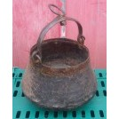 Beaten shaped iron cooking pot