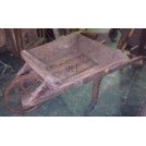 Wood wheelbarrow low sides & iron wheels