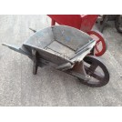 Rustic Worn Wooden Wheeled Barrow
