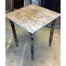 Square plain wood table