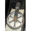 Iron pulley wheel with rope