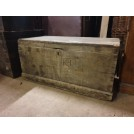 Worn flat top wood trunk