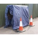 Road workers hut