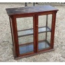 Small wood glass display cabinet