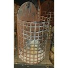 Iron wall cage candle holders