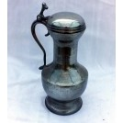 Medium polished pewter jug