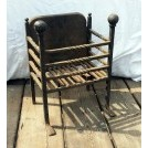 Iron fire basket with back