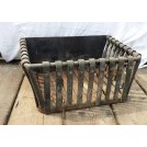 Iron rectangle fire basket