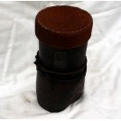 Leather tub with lid