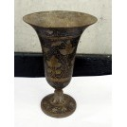 Black & brass goblet