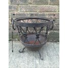 Small knotted iron brazier