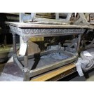 Polished carved edge table