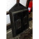 Dark wood pointed wall cupboard