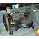 Black domestic sewing machine