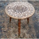 Round patterned stool