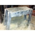 Thick wood butchers table