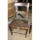 Wide wood chair