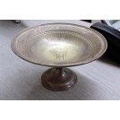 Ornate silver bowl on stand