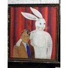 Rabbit with Man - Painting