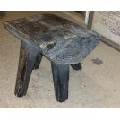 Dark wood small rough stool