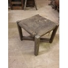 Plain square low stool