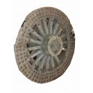 Large studded cart wheel