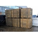 Large wood crates new aged timber
