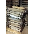Shallow wood tray crate