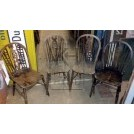 Spindle back wood chair