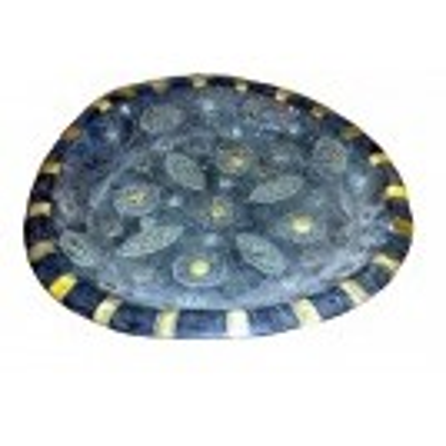 Black jeweled plate