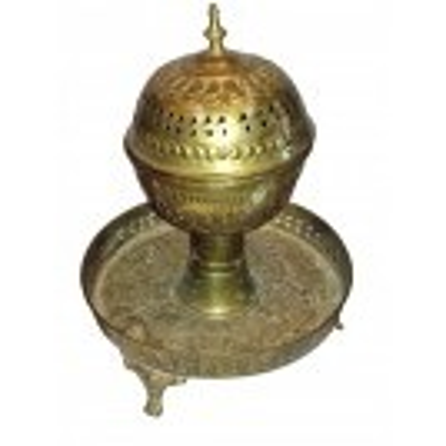 Brass incense burner on legs