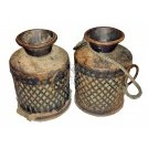 Iron lattice patterned pots