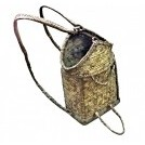 Small rattan woven backpack