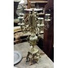 Ornate brass candelabra