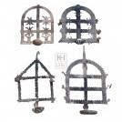 Medium hanging iron oil lamps