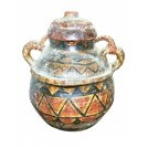Patterned 2-handle urn