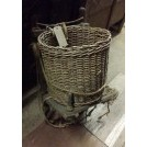 Wood back rack with basket # 1