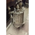 Wood back rack with basket # 2