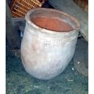 Large bulbous rounded bottom pot