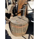 Wood barrel pump