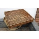 Wicker sellers tray with strap