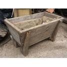 Small low wood trough