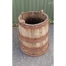 Wood iron banded tub