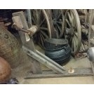 Large wood bracket with pulley wheel