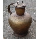 Very large copper jug with lid