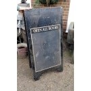 Large black sandwich board